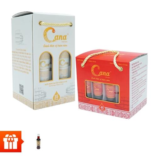 [PGM]Combo tinh túy từ biển khơi ( hộp 4 chai nước mắm CANA 35N (250ml/chai)+ hộp 12 chai nước mắm CANA 45N ( 50ml/ chai)+1 chai nước mắm CANA PET 15N (500ml)