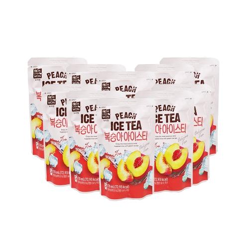 Nokchawon-Hộp 10 túi Trà đào (170ml/túi) Hàn Quốc tặng 2 túi trà ngẫu nhiên