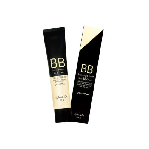 [EC]-Natinda - Kem BB che khuyết điểm, chống nắng-Real Magic Cover Sun BB Cream(50g)
