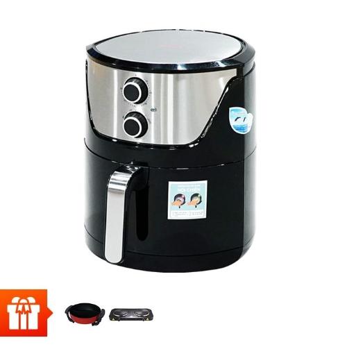 PERFECT - Nồi chiên không dùng dầu PF-335 + Nồi lẩu điện 2 ngăn Perfect PF-A2N + Bếp điện đôi PF-HP789