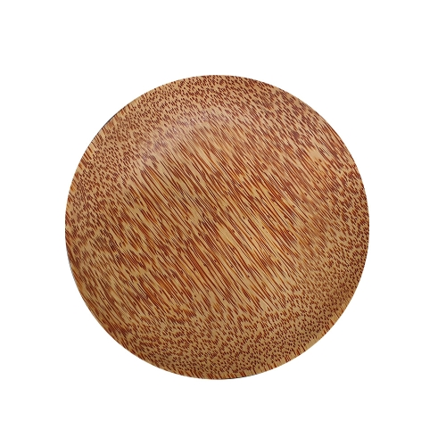 [EC]-OHIAMA-Dĩa tròn gỗ dừa