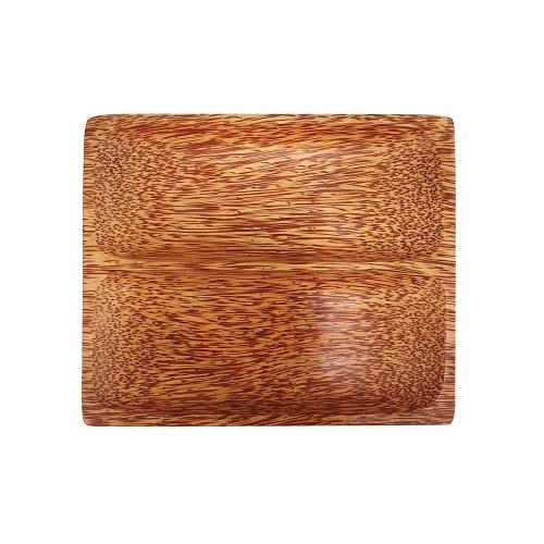 [EC]-OHIAMA-Dĩa 2 ngăn gỗ dừa