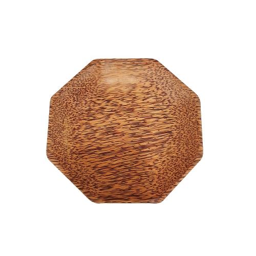 [EC]-OHIAMA-Dĩa đa giác gỗ dừa