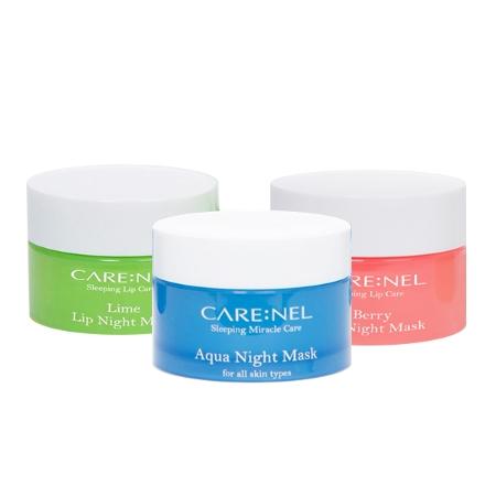[EC]CARE:NEL-Mặt nạ ngủ mặt Aqua Night Mask 15ml +2 Mặt nạ ngủ môi 5g(Berry+Lime Lip Night Mask)